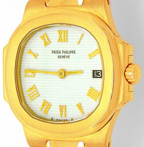 Foto 9, Patek Philippe Nautilus, Damen Armbanduhr, Gold Geprüft, U1787