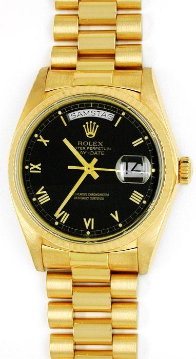 Foto 1, Orig. Rolex Day Date Gelbgold Herren Armbanduhr Geprüft, U1789