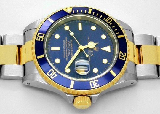 Foto 4, Original Rolex Submariner Date Blau STG F.Neu Portofrei, U1794