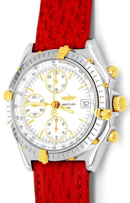 Foto 1, Hr Breitling Chronomat St/G Shop! Neuzustand! Portofrei, U1798