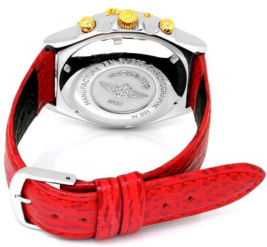 Foto 2, Hr Breitling Chronomat St/G Shop! Neuzustand! Portofrei, U1798