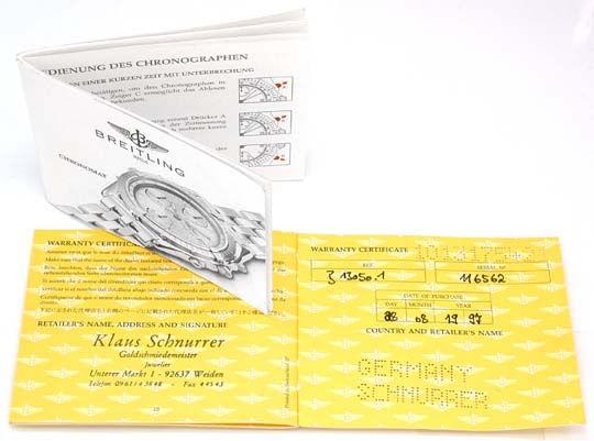 Foto 4, Hr Breitling Chronomat St/G Shop! Neuzustand! Portofrei, U1798