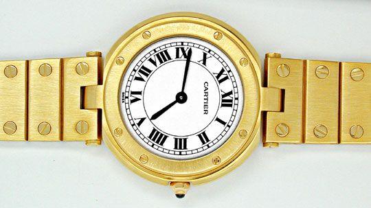 Foto 1, Orig. Cartier Santos Gelbgold Herren Uhr Geprüft Neuz.!, U1799