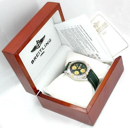 Foto 3, Orig.Hr Breitling Chronomat St/G Shop! Neuz.! Portofrei, U1804