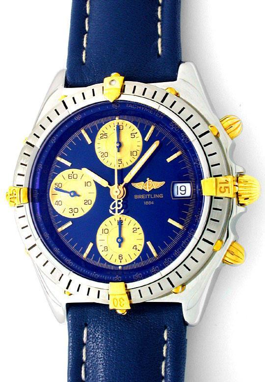 Foto 2, Orig. Hr Breitling Chronomat St/G Automatik Chronograph, U1811