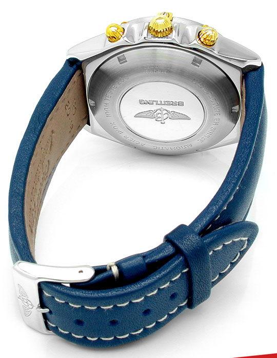 Foto 3, Orig. Hr Breitling Chronomat St/G Automatik Chronograph, U1811