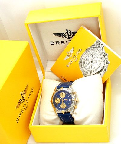 Foto 4, Orig. Hr Breitling Chronomat St/G Automatik Chronograph, U1811