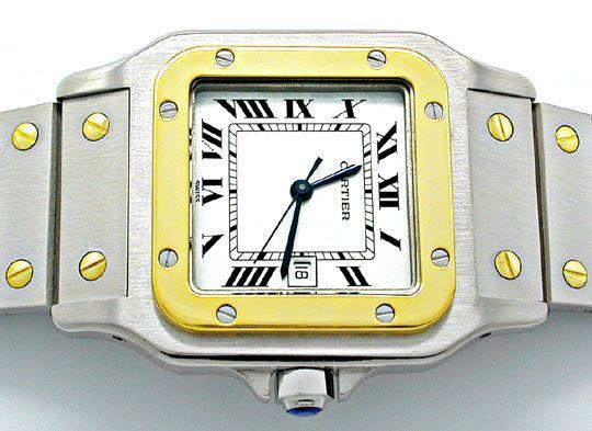 Foto 1, Cartier Santos STG, Automatik, Herren Armbanduhr, Shop!, U1813