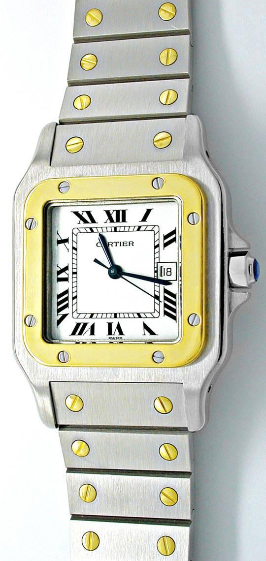 Foto 2, Cartier Santos STG, Automatik, Herren Armbanduhr, Shop!, U1813