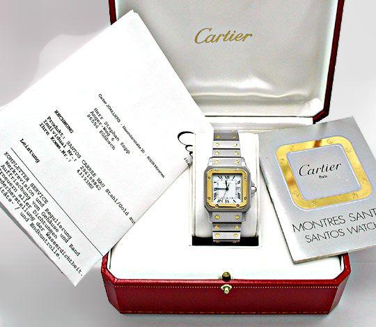 Foto 4, Cartier Santos STG, Automatik, Herren Armbanduhr, Shop!, U1813