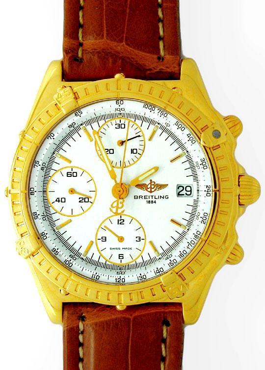 Foto 2, Orig.Hr-Breitling-Chronomat Gold Topuhr Neuz. Portofrei, U1816