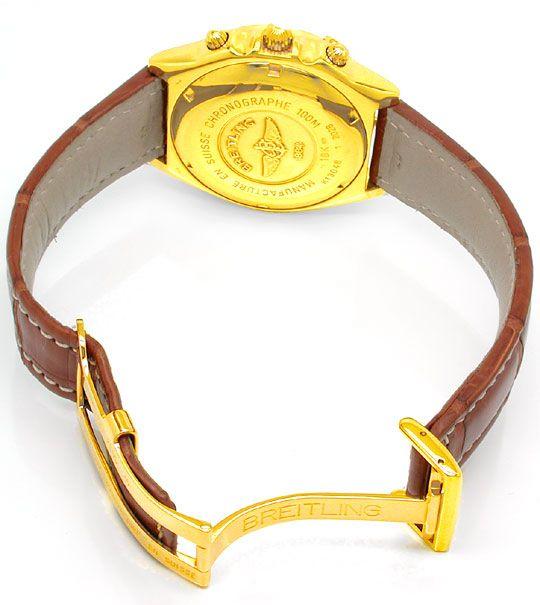 Foto 3, Orig.Hr-Breitling-Chronomat Gold Topuhr Neuz. Portofrei, U1816