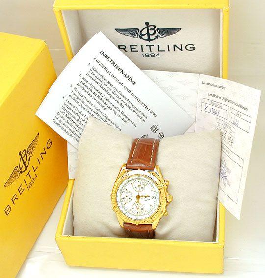 Foto 4, Orig.Hr-Breitling-Chronomat Gold Topuhr Neuz. Portofrei, U1816