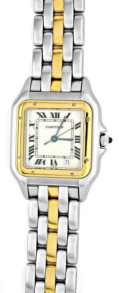 Foto 2, Orig.Cartier Panthere Stahlgold Herren Uhr Topuhr Neuz., U1817