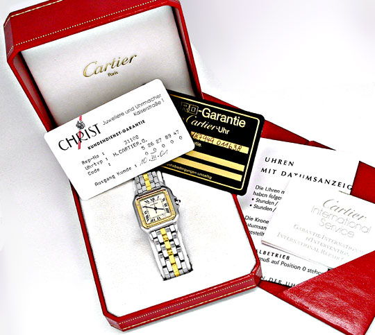 Foto 4, Orig.Cartier Panthere Stahlgold Herren Uhr Topuhr Neuz., U1817