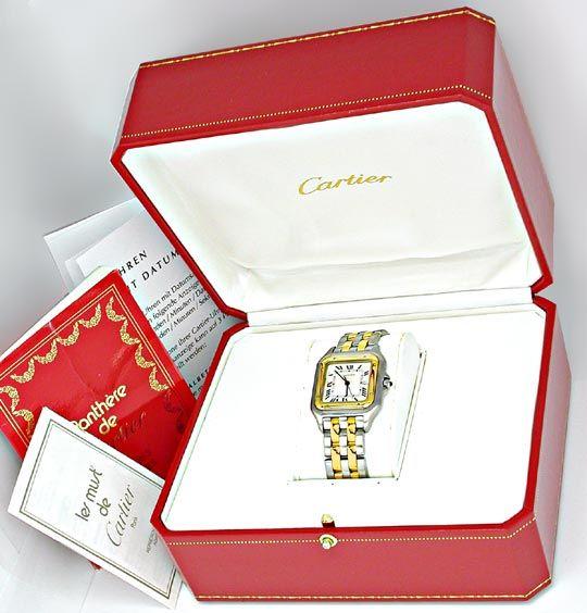 Foto 4, Orig.Cartier Panthere Stahlgold XXL=Selten Topuhr Neuz., U1821