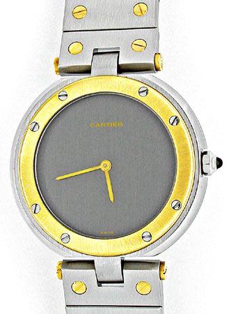Foto 1, Orig.Cartier Santos Vendome Stahlgold Herren Uhr Topuhr, U1826