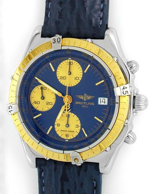 Foto 2, Hr Breitling Chronomat Goldlünette Shop! Neuz Portofrei, U1828