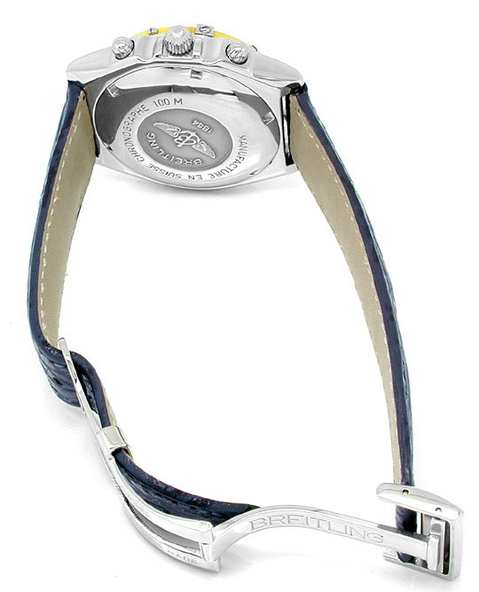 Foto 3, Hr Breitling Chronomat Goldlünette Shop! Neuz Portofrei, U1828