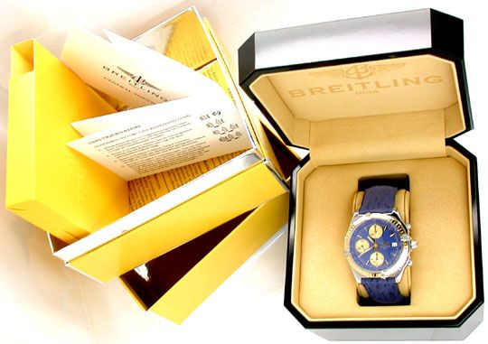 Foto 4, Hr-Breitling-Chronomat Goldlünette Shop! Neuz Portofrei, U1828
