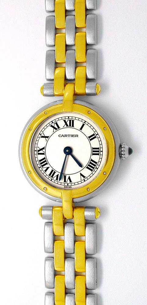 Foto 2, Orig.Cartier Panthere Stahlgold Damen-Uhr Topuhr Neuw.!, U1832