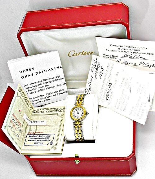 Foto 4, Orig.Cartier Panthere Stahlgold Damen-Uhr Topuhr Neuw.!, U1832