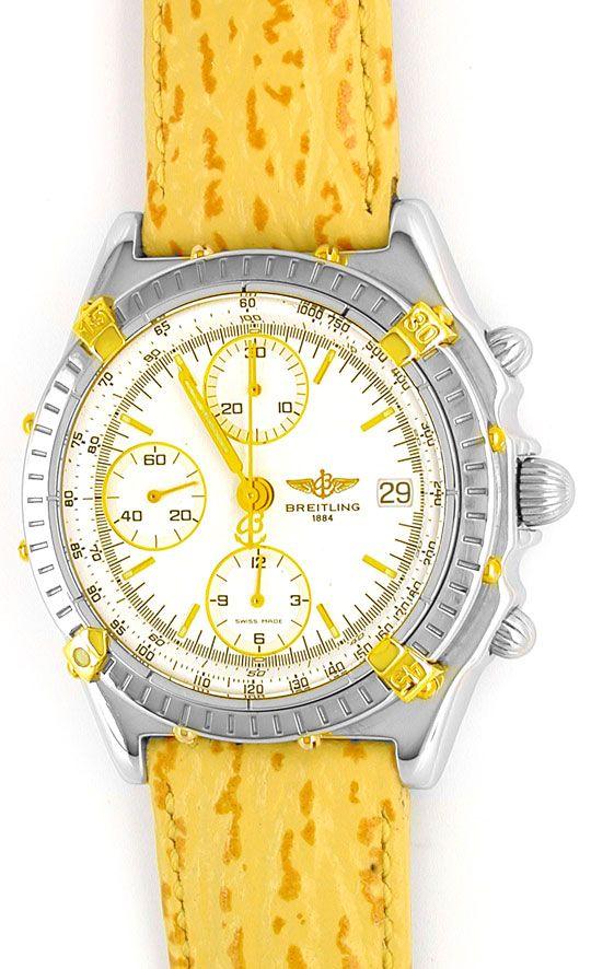 Foto 2, Orig. Hr Breitling Chronomat St/G Shop! Neuz. Portofrei, U1833