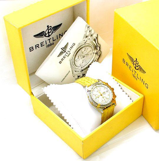 Foto 5, Orig. Hr Breitling Chronomat St/G Shop! Neuz. Portofrei, U1833