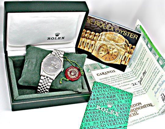 Foto 5, Orig.Rolex-Datejust Stahl/Weissgold Herren Topuhr Neuz., U1838