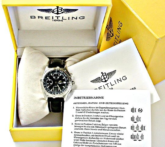 Foto 4, Orig.Hr Breitling Chronomat ST Shop! Neuzust. Portofrei, U1839