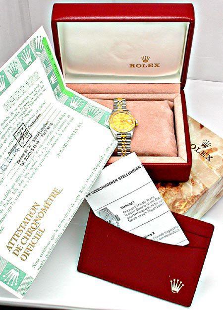 Foto 4, Orig. Da-Rolex-Datejust St/G Shop! Neuzustand Portofrei, U1842