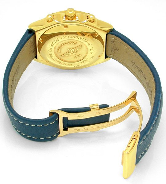 Foto 2, Hr-Breitling-Chronomat Gold Shop! Neuzustand! Portofrei, U1845