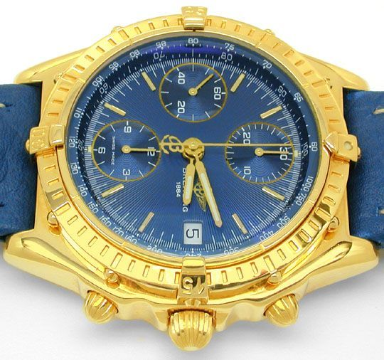 Foto 9, Hr-Breitling-Chronomat Gold Shop! Neuzustand! Portofrei, U1845