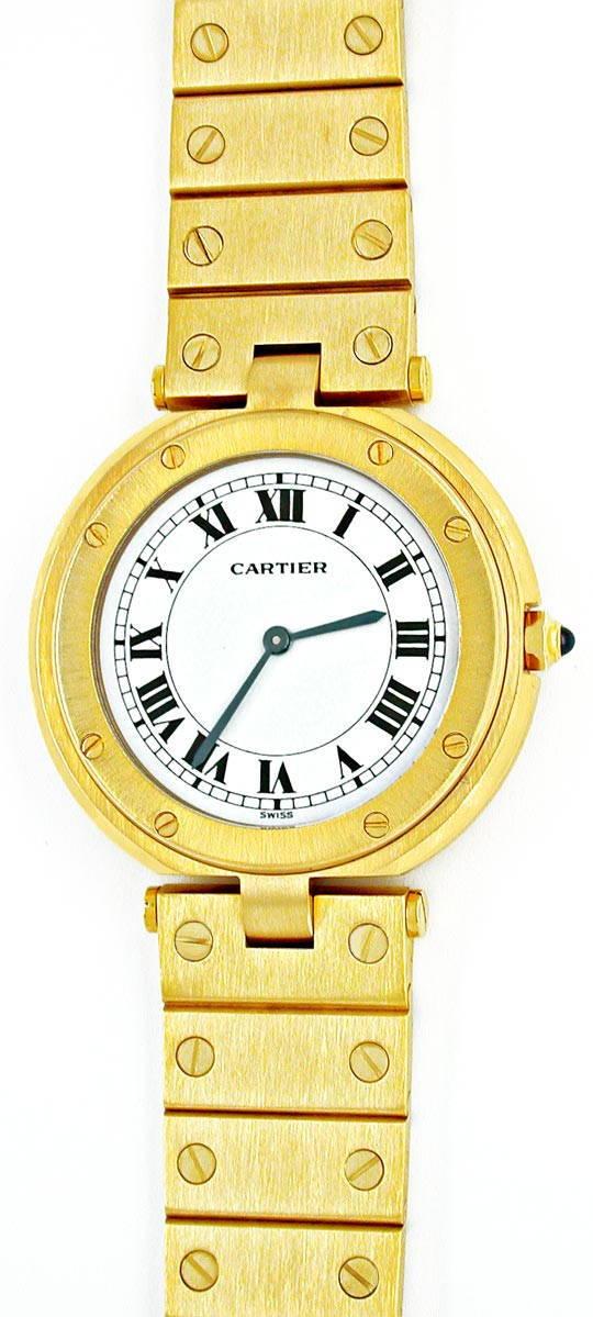 Foto 2, Cartier Santos Vendome Herren, Nur 5mm Flach Neuzustand, U1846
