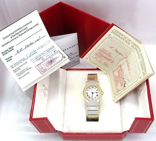 Foto 4, Original Herren Cartier Santos, Stahl/Gold, Neuzustand!, U1849