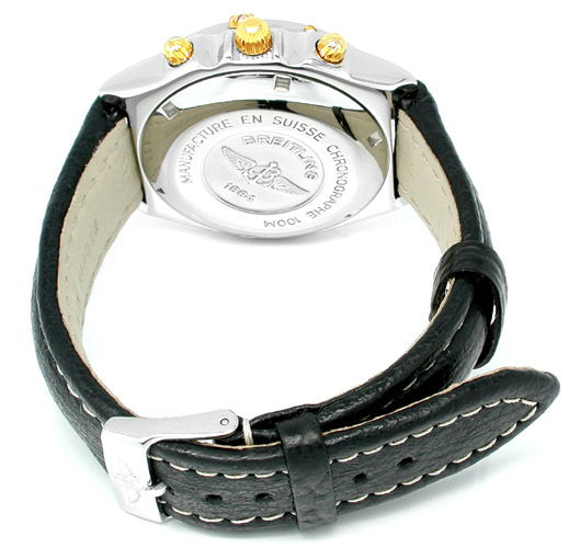 Foto 2, Orig. Hr Breitling Chronomat St/G Shop! Neuw. Portofrei, U1853