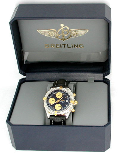 Foto 3, Orig. Hr Breitling Chronomat St/G Shop! Neuw. Portofrei, U1853