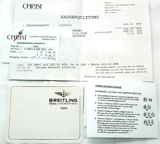 Foto 4, Orig. Hr-Breitling-Chronomat St/G Shop! Neuw. Portofrei, U1853