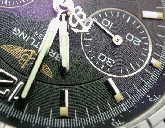 Foto 4, Ungetragen! Orig.Medium-Breitling-Chronograph Portofrei, U1855