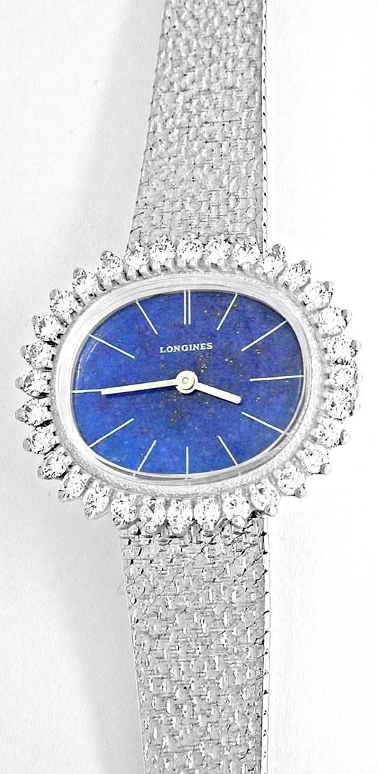 Foto 2, Damen Longines Diamant Weissgold Lapis Topuhr Portofrei, U1856