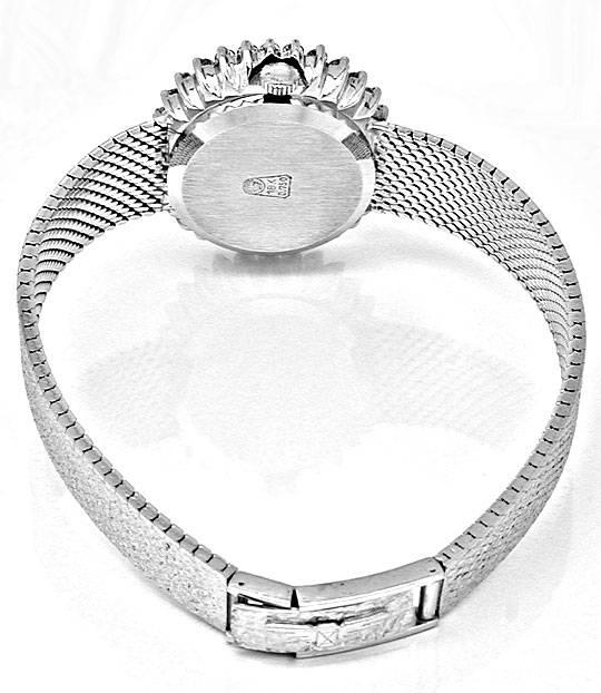 Foto 3, Damen Longines Diamant Weissgold Lapis Topuhr Portofrei, U1856