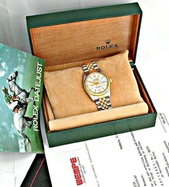 Foto 4, Original Hr Rolex Datejust St/G Topuhr Neuw.! Portofrei, U1857