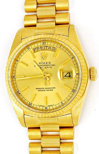 Foto 1, Original Hr-Rolex-Daydate Gelbg. Topuhr Neuw. Portofrei, U1862