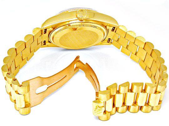 Foto 3, Original Hr-Rolex-Daydate Gelbg. Topuhr Neuw. Portofrei, U1862