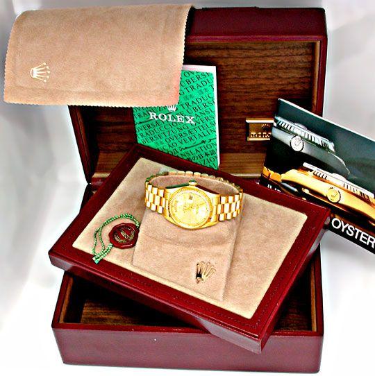 Foto 4, Original Hr Rolex Daydate Gelbg. Topuhr Neuw. Portofrei, U1862