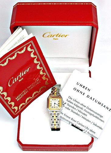 Foto 4, Original Da Cartier Panthere St/G Shop! Neuz. Portofrei, U1863