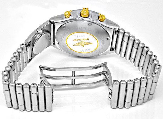 Foto 3, Hr Breitling Chronomat St/G UTC St Band Shop! Portofrei, U1864