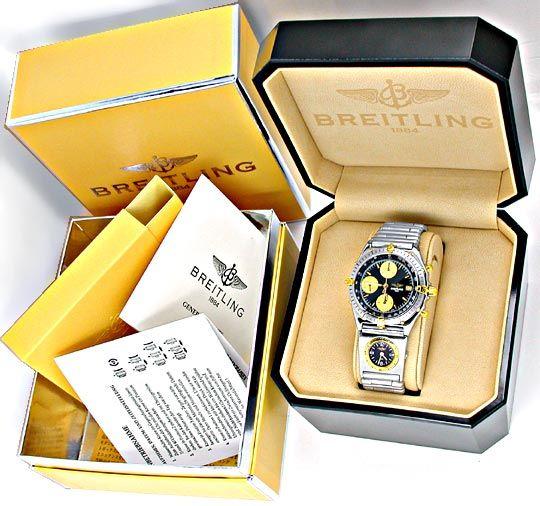 Foto 5, Hr Breitling Chronomat St/G UTC St Band Shop! Portofrei, U1864