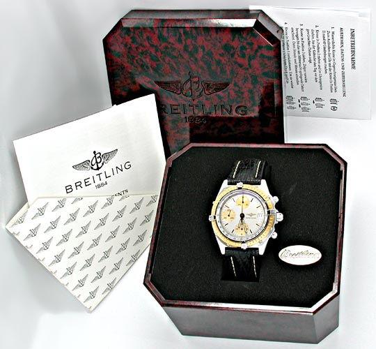 Foto 4, Breitling Chronomat Hr Stahlgold Automatik Topuhr Neuz., U1866