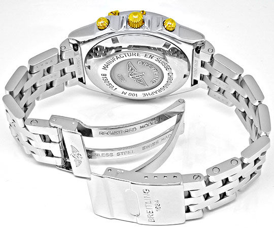 Foto 3, Original Breitling Chronomat STG Pilotband Topuhr Neuz., U1870